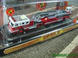 Code 3 Aerial Ladder Fire Truck City of Baltimore 7 Seagrave 12661 w Case 1 64