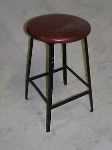 Vintage Modern Industrial Machine Age Steampunk Shop Stool Chair
