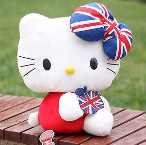 "12"" Sanrio Original Hello Kitty Stuffed Plush Toy Mbse Baby Doll Kids Party Gift"