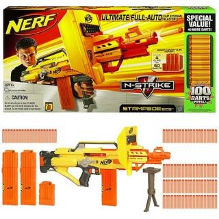 New Nerf Stampede ECS Value Pack Gun Blaster Kids Outdoor Toy 4 Cubby House