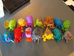 Sonic Drive thru Dinosaur Tater Tot Plush Toys Kids Meal Lot of 14 Plushes