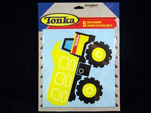 5 Tonka Truck Construction Big Stickers Party Supplies Favor Decoration