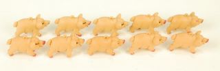 Plastic Pigs 100 Lot Mini Farm Animals Toy Craft Favors Novelty