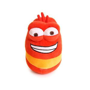 "Larva Korean Animation Character Soft Doll Plush Toy 9"" for Kids Medium Red"