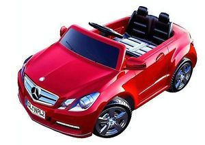 Electric Power Red Race Car Kids Motorized Mercedes Benz Wheels Toy Ride on E550