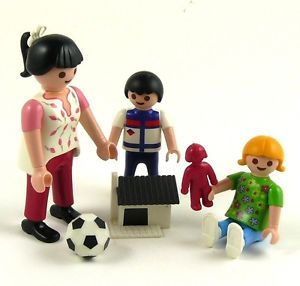 Children with Toys Miniature Doll House City Life Family Figures Playmobil