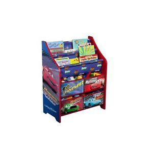 Disney Cars Kid's Room Book Shelf Toys Bin Quality Organizer Storage Box