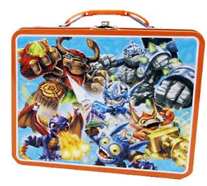 Skylander Giants Metal Tin Lunch Box Blue New Carrier Toys Tote Kids Gift Bag