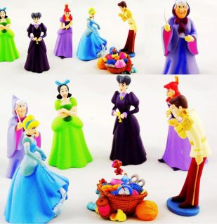 Lot 7 Disney Cinderella Doll Children's Toys Action Figures DH267