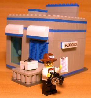 Custom Newspaper Print Shop Set for Town City Train Lego News Reporter Gift