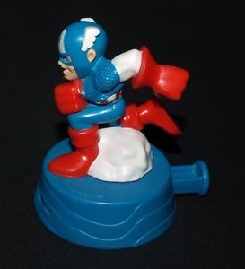 Burger King Kids Meal Marvel Super Hero Squad Captain America Action Figure Toy