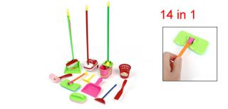 Playing Housing Cleaning Plastic Toy 14 in 1 Set for Children Kids