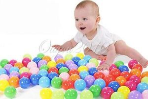100pcs Baby Kid Colorful Fun Tent Safe Soft Plastic Ocean Ball Swim Pool Pit Toy
