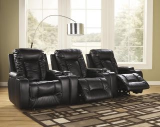 New Ashley Contemporary Durablend Home Theater Seating Power Zero Wall Recliners