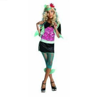 Monster High Lagoona Blue Green Girls Kids Top Skirt Sz 8 10 M Solid Rubie'S