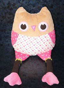 "15"" Pottery Barn Kids Plush Owl Stuffed Animal Pillow Room Decoration Toy Baby"