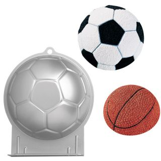 Wilton Soccer Ball 3D Sports Football Birthday Cake Pan Tin Mold Mould Aluminium