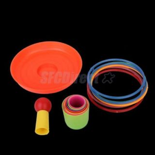 Set of Colorful Detachable Plastic Ring Toss Toy for Children Educational Game