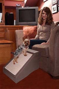 "Stramp Pet Dog Ramp Bed Chair Stairs 28""LX 16""Wx16""H TO150 lbs Chocolate Brown"