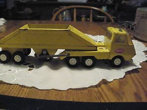 Metal Tonka Vintage Bottom Dump Kids Toy Tractor Trailer Antique Truck
