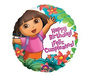 Dora The Explorer Happy Birthday Balloon Party Supplies Feliz Cumpleanos Polka