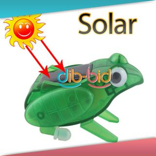 Mini Sunlight Solar Capering Jumping Frog Education Aid Toy Kids Party Fun Gift