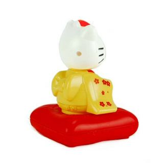Solar Toy Yellow Geisha Girl Hello Kitty Sanrio Bobble Dancing Kids Gift 4 25""