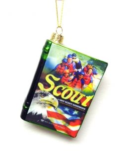 "Kurt Adler Christmas Ornament Boy Scouts of America Blown Glass ""Handbook"""