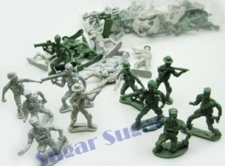 New 2 x Kids 40 Piece Plastic Battle Toy Soldiers Game