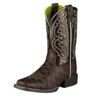 Ariat Quickdraw Kids 6 Youth Western Boots Brown Boys
