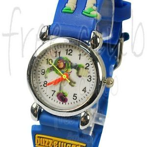 Toy Story Buzz Lightyear 3D Blue Belt Kid's Wrist Watch