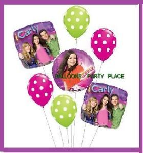 iCarly Balloons Party Supplies Pink Green Birthday Set
