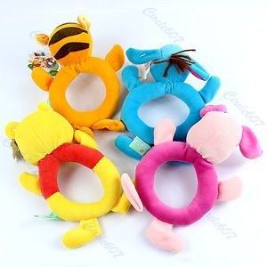 1pcs Baby Disney Animal Model Catoon Hand Bell Ring Rattles Kid Plush Soft Toys