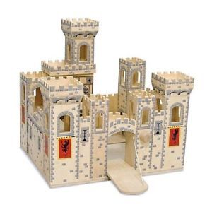 Dollhouse Girls Melissa Doug Deluxe Folding Medieval Castle Toy Gift Kids Chi