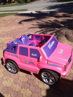 Fisher Price Power Wheels Pink Cadillac Escalade Ride Kids Toy Children'S