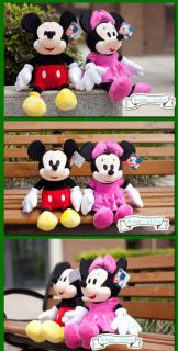 "Disney 20"" Extra Large Mickey Minnie Mouse Soft Plush Stuffed Animal Toy Doll"