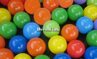 Kids's 50pcs Soft Plastic Pit Ball 5 Bright Color Play Tent Tunnel Toy Pets DL0