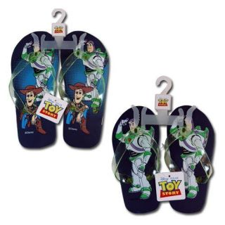 Disney Toy Story Buzz Woody Kids Boys Thong Flip Flops Beach Sandals NWT 2 Pair