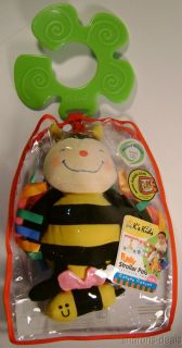 K's Kid Funky Stroller PAL Rattling Waggling Bumble Bee Baby Activity Toy Infant