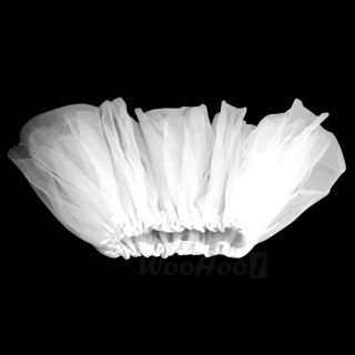 Girl Kids White Ballet Dance Elastic Skirt Tutu Party