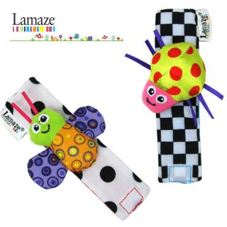 Infant Baby Kid Lamaze Wrist Watch Foot Socks Rattle Hand Foot Finder Plush Toys