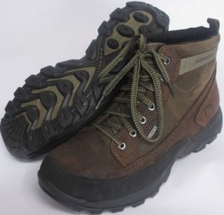 Merrell Mens Sz 9 5 Graz Waterproof Leather Hiking Trail Shoes Stone Brown New