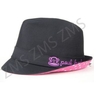 Paul Frank Julius Monkey Black Embroidery Fedora Hat for Cowboy Party Girls Kids