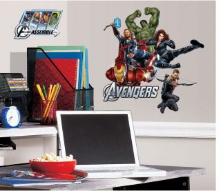 17 Marvel The Avengers Iron Man Thor Hulk Kids Wall Decals Stickers Stick UPS