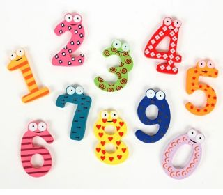 15pcs Kid Fridge Magnet Wood 0 9 Arabic Number Math Symbol Baby Educational Toy