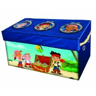 Jake and The Neverland Pirates Collapsible Book Game Toy Box Storage Chest Trunk