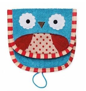 B9 Baby Kids Children Animal Glove Owl Toy Bathing Grooming Towels Washcloths