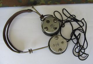 WWII Original German Wehrmacht Radio Headphones Saba
