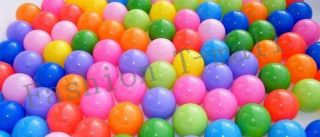 50 Pcs 2 76'' 7cm Colourful Plastic Ball Ocean Pool Ball Tent Baby Kids Toy LDPE