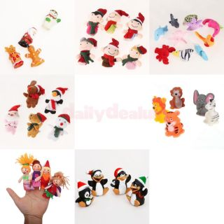 4pcs Christmas Party Penguin Finger Puppets Child Funny Storytelling Toy Gift